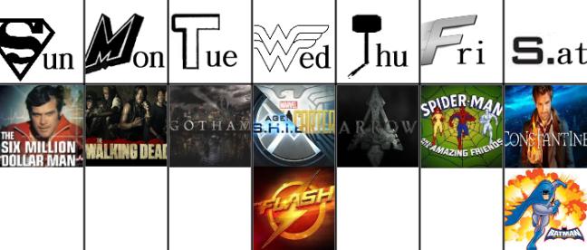 Channel Superhero schedule