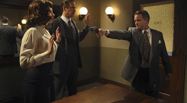 Hayley Atwell, James D'Arcy & Shea Wingham in Episode 7 of Agent Carter