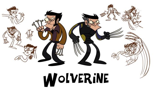 Wolverine's model sheet.