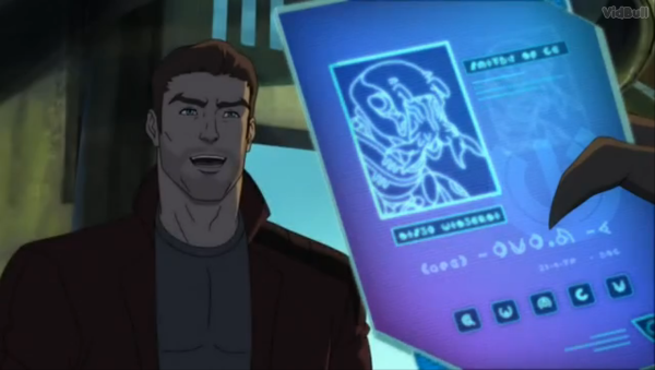 A fun little sight gag where Star-Lord tries to pass that ID card off as his own.